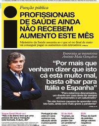 capa Jornal i de 21 abril 2020