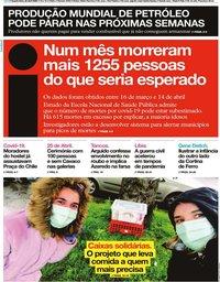 capa Jornal i de 22 abril 2020