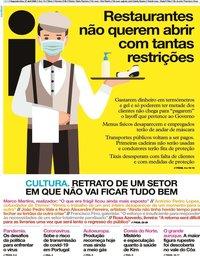 capa Jornal i de 27 abril 2020