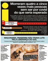 capa Jornal i de 28 abril 2020