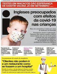 capa Jornal i de 29 abril 2020