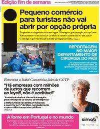 capa Jornal i de 30 abril 2020