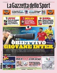 capa La Gazzeta dello Sport