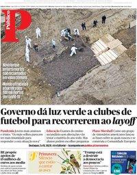 capa Público de 11 abril 2020