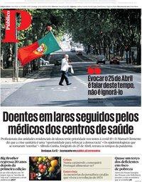 capa Público de 26 abril 2020