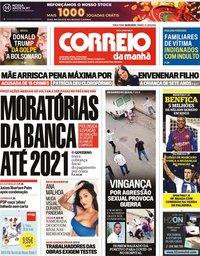 capa Correio da Manhã de 26 maio 2020