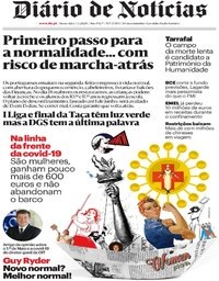 capa Diário de Notícias de 1 maio 2020