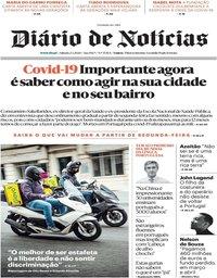 capa Diário de Notícias de 2 maio 2020