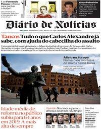capa Diário de Notícias de 4 maio 2020