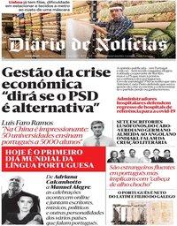 capa Diário de Notícias de 5 maio 2020