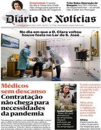 capa Diário de Notícias de 6 maio 2020