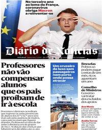 capa Diário de Notícias de 7 maio 2020