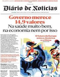 capa Diário de Notícias de 9 maio 2020