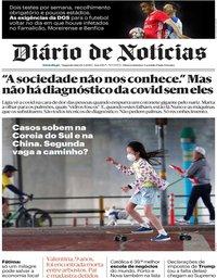 capa Diário de Notícias de 11 maio 2020