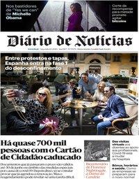 capa Diário de Notícias de 12 maio 2020