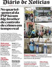 capa Diário de Notícias de 14 maio 2020