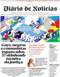 capa Diário de Notícias de 16 maio 2020