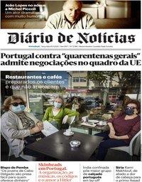 capa Diário de Notícias de 19 maio 2020