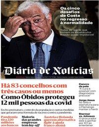 capa Diário de Notícias de 20 maio 2020