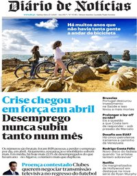 capa Diário de Notícias de 21 maio 2020