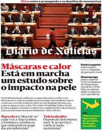 capa Diário de Notícias de 22 maio 2020
