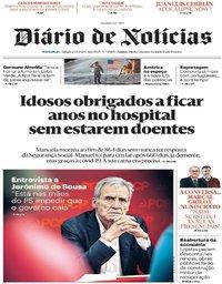 capa Diário de Notícias de 23 maio 2020