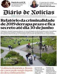 capa Diário de Notícias de 25 maio 2020