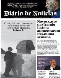 capa Diário de Notícias de 26 maio 2020