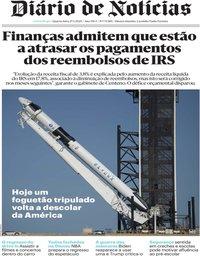 capa Diário de Notícias de 27 maio 2020