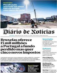 capa Diário de Notícias de 28 maio 2020