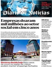 capa Diário de Notícias de 29 maio 2020
