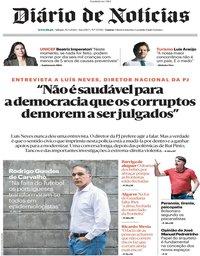 capa Diário de Notícias de 30 maio 2020