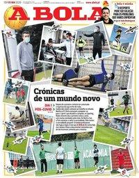 capa Jornal A Bola de 5 maio 2020