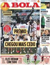 capa Jornal A Bola de 6 maio 2020