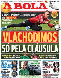 capa Jornal A Bola de 9 maio 2020