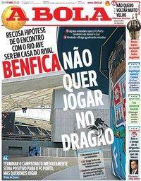 capa Jornal A Bola de 15 maio 2020
