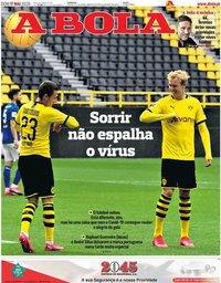 capa Jornal A Bola de 17 maio 2020