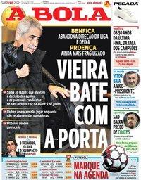 capa Jornal A Bola de 23 maio 2020