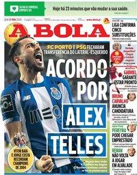 capa Jornal A Bola de 27 maio 2020