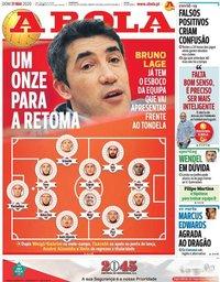 capa Jornal A Bola de 31 maio 2020