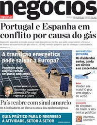 capa Jornal de Negócios de 4 maio 2020