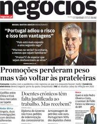 capa Jornal de Negócios de 5 maio 2020