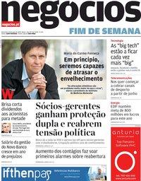 capa Jornal de Negócios de 8 maio 2020