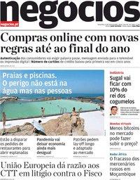 capa Jornal de Negócios de 12 maio 2020