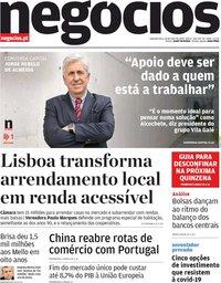 capa Jornal de Negócios de 18 maio 2020
