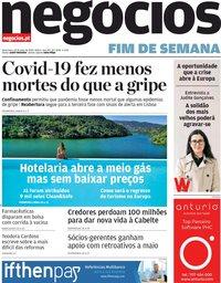 capa Jornal de Negócios de 29 maio 2020