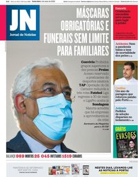 capa Jornal de Notícias de 1 maio 2020