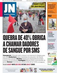 capa Jornal de Notícias de 2 maio 2020