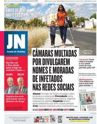 capa Jornal de Notícias de 3 maio 2020