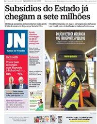 capa Jornal de Notícias de 4 maio 2020